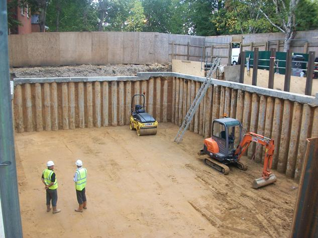 nk structural design watertight concrete basement in construction